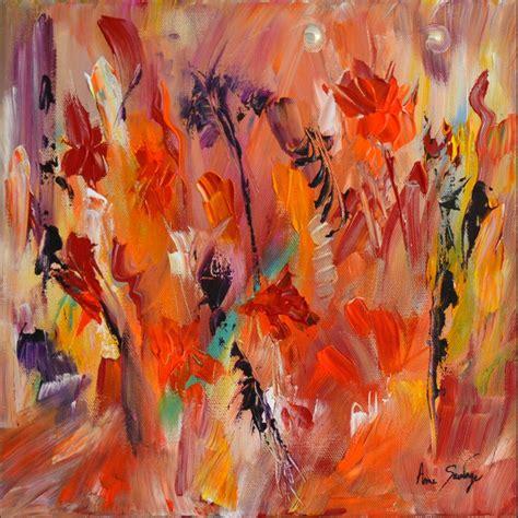 peinture moderne abstraite fleurs tableau abstrait fleurs peinture florale eclatante de couleurs
