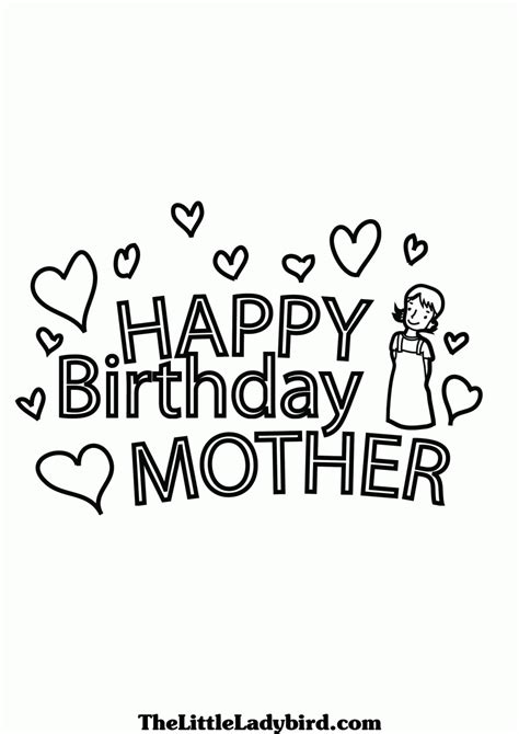 happy birthday mom printable coloring pages coloring home