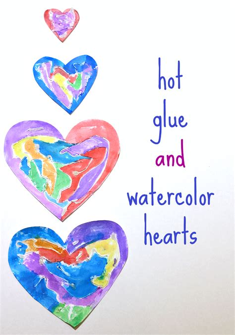 glue amp watercolor hearts for s day or any 630 | hot glue and watercolor hearts