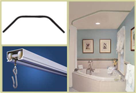 shower rods corner tub curtain rods