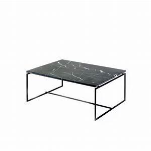 Table Marbre Noir : 10 tables basses inspirantes et fascinantes pour vos salons ~ Teatrodelosmanantiales.com Idées de Décoration