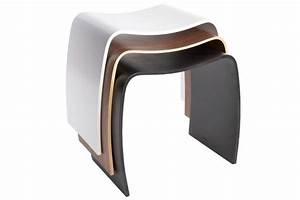Tabouret Bas Design : tabouret bas design mooble blanc empilable ~ Teatrodelosmanantiales.com Idées de Décoration