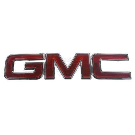 Gmc Grille Emblem Chrome & Red For Gmc Ebay