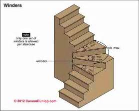 winding or turned stairways guide to stair winders angled stairs codes construction