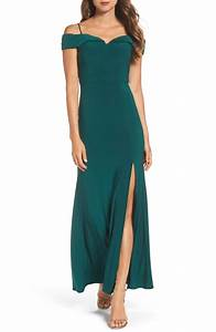 Morgan Co Off The Shoulder Gown Nordstrom