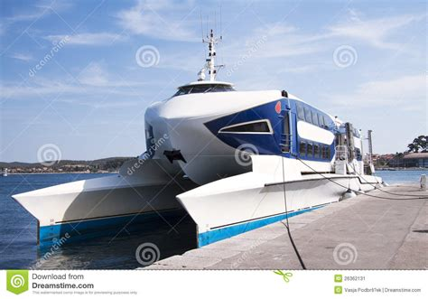 Fast Catamaran Boats by Fast Catamaran Boat Stock Image Image 26362131