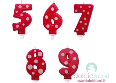 Candele Di Compleanno Particolari by Candeline Numero A Pois Rosso Per Festa Di Compleanno