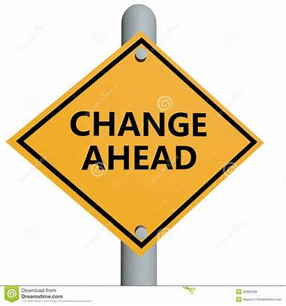 Change Ahead Sign Road Clip Clipart Text