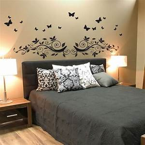 Stickers tete de lit encadrement de lit stickers pour for Décoration chambre adulte avec autocollant pour fenetre