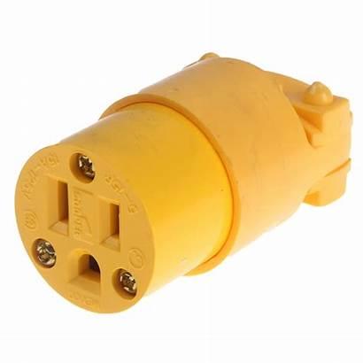 Plug Female 120v Cord Connector Plugs Yellow