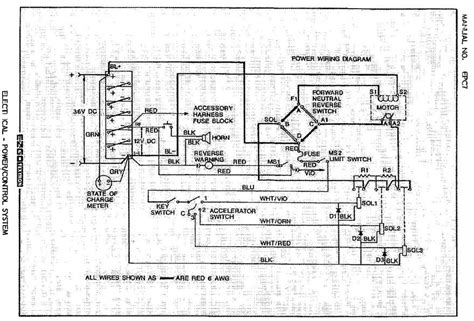 wiring diagram  ezgo  serial