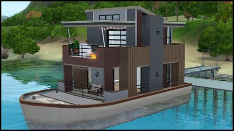 Houseboats Sims 3 the sims 3 house building serenity houseboat