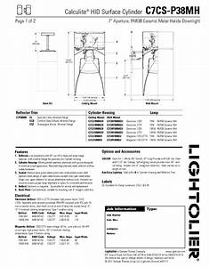 Calculite Hid Surface Cylinder C7cs-p38mh Manuals