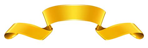 Gold Clipart Gold Ribbon Banner Clipart