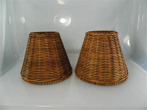 Wicker Chandelier L Shades by Vintage Wicker L Shades Wicker 1 Pair