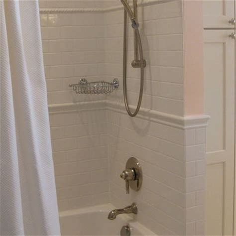 chair rail in shower kitchen and bath
