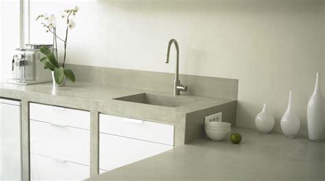 cuisine en béton ciré beton cire salle de bain couleur