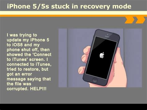 iphone 5 recovery mode how to fix iphone 5 5s stuck in recovery mode