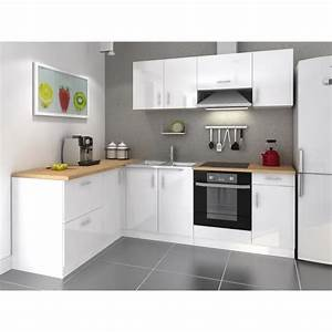 Cuisine Complète Pas Cher : buffet de cuisine blanc laque ~ Melissatoandfro.com Idées de Décoration