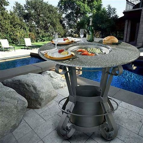 bar height patio table with fire pit california outdoor concepts solano bar height gas fire pit