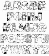 Coloring Alphabet Pages Printable Whole Animals sketch template