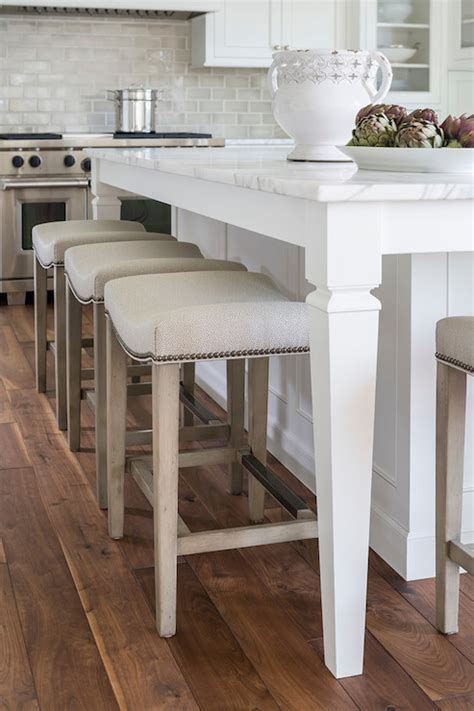 Nailhead Barstools   Transitional   kitchen   Benjamin