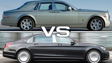 Rolls Royce Vs Maybach by Rolls Royce Phantom Vs Mercedes Maybach S600