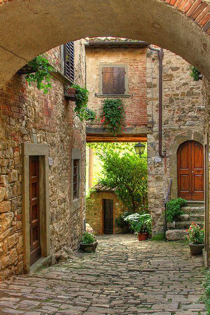 ancient street tuscany italy photo  sunsurfer