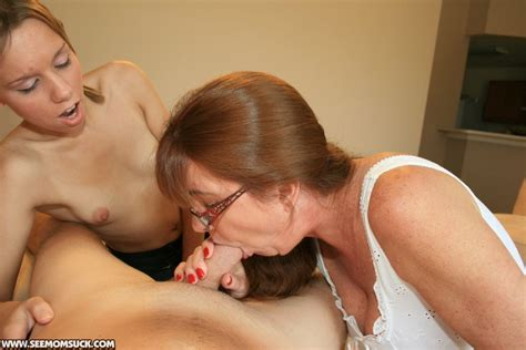 Lascivious Mature Lady In Glasses Teaching Her Teen Friend