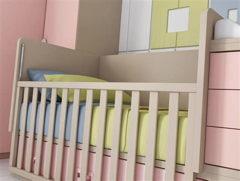 chambre bébé fille avec un lit jumeaux évolutif glicerio