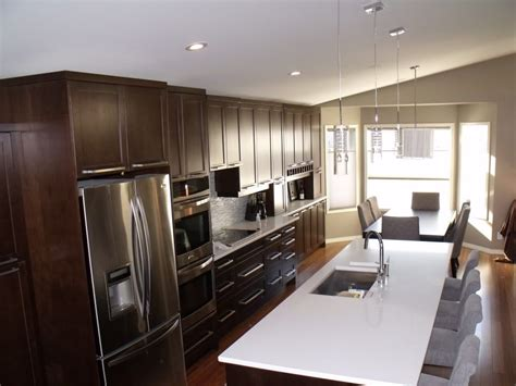 One Coolest Kitchen Designs by One Wall Kitchen Layout With Island Beautiful Home Design