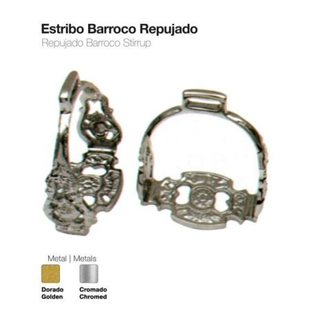 baroque repujado stirrups