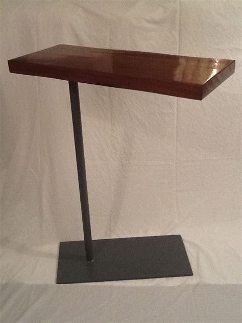 swing arm laptop table side table laptop bedside swivel table steelwood design