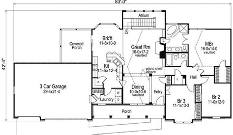 bedroom  bath ranch house plan alp  allplanscom