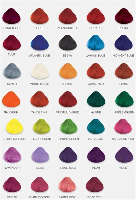 List Of All Hair Colors by 1000 Ideas About Non Permanent Hair Dye On