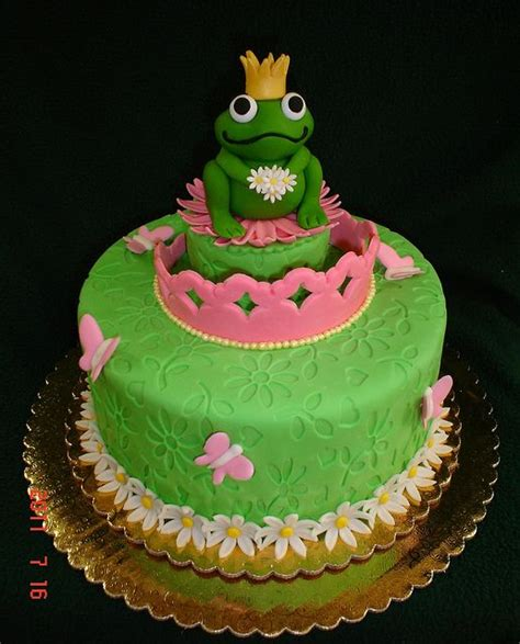 frog princess cake  valscustomcakes  flickr