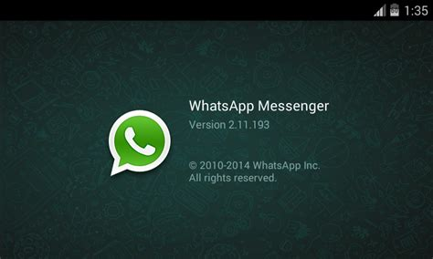 the version of official whatsapp 2 11 193