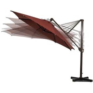 11 deluxe octagon offset cantilever umbrella wayfair