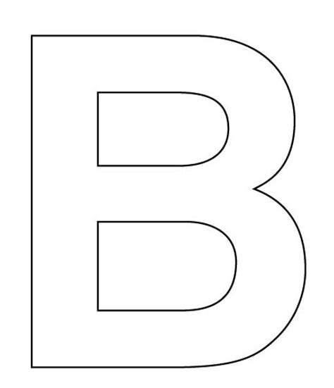 largeprintablecutoutletters the letter b make a large letter