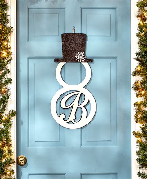 metal monogram door hanger monogram snowman front door hangers wall decor metal 15