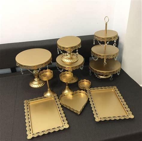New Set Gold Wedding Dessert Tray Cake Stand Cupcake Pan