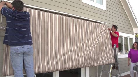 replacing  retractable awnings fabric removal installation youtube