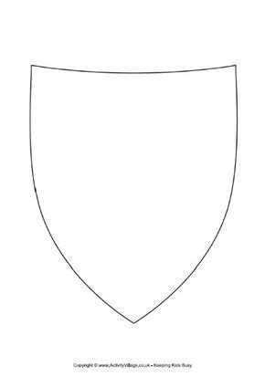 decorate  shield shield template shield template