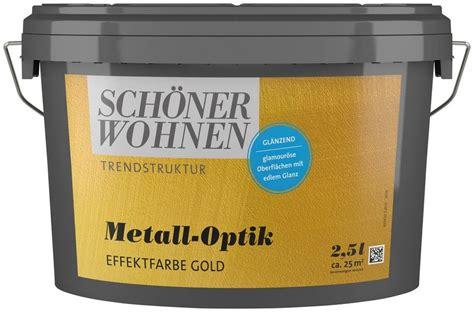 Schöner Wohnen Farbe Gold by Sch 214 Ner Wohnen Farbe Spezialfarbe 187 Metall Optik