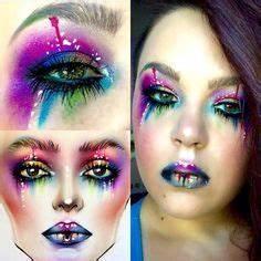 neon face paint rainbows glitter artist professional