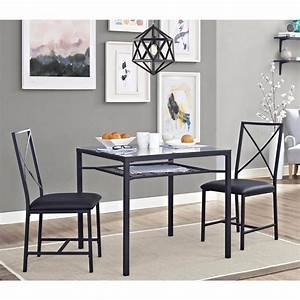 Dining table set for 2 chairs 3 piece kitchen room for Kitchen room furniture