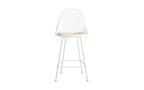 eames 174 wire counter stool with seat pad dkhcx 5 design