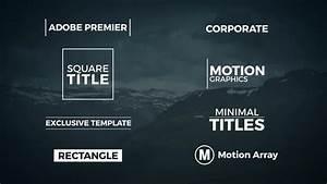 8 minimal titles premiere pro templates motion array for Premiere pro animated title templates