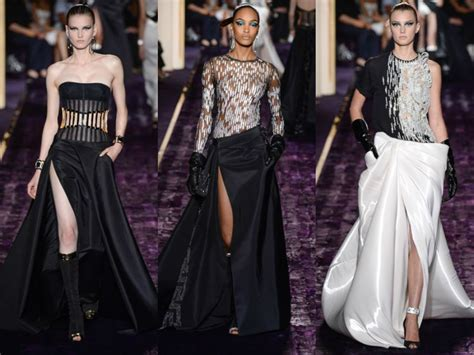 hr wears satin fashion by the atelier versace haute couture fall