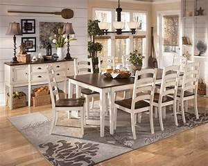 Whitesburg, 9-piece, Rectangular, Extension, Dining, Table, Set, In, Brown